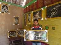 Karya Lukis Cangkang Telur Tembus Pasar Luar Bojonegoro