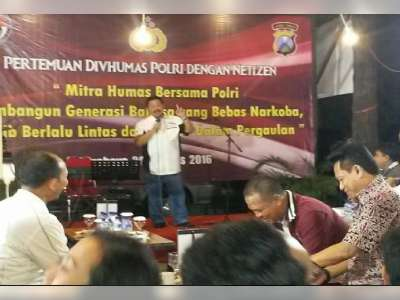 Pertemuan Divhumas Polri dengan Netizen Jawa Timur