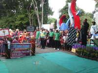 Pawai Budaya TK/RA Diberangkatkan oleh Wakil Bupati