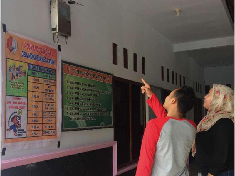 EMCL Pasang Detektor Gas di Balai Desa Mojodelik