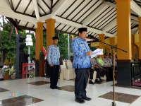 Amanat Bupati dalam Apel Gelar Pasukan Pengamanan Pilkades Serentak di Bojonegoro