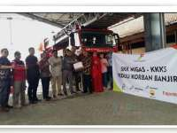 SKK Migas dan KKKS Serahkan Bantuan untuk Korban Banjir ke BPBD Bojonegoro