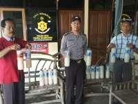 Operasi Jelang Natal dan Tahun Baru, Polsek Kota Sita Puluhan Liter Toak