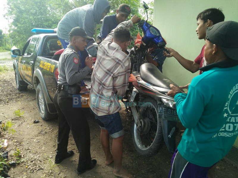 Pengendara Kurang Konsentrasi, Dua Motor Tabrakan di Jalan Raya Malo