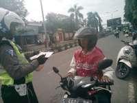 Razia Kendaraan di Jalan Veteran, Petugas Amankan 108 Barang Bukti