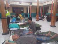 PSHT Gandeng Polsek Purwosari Adakan Donor Darah