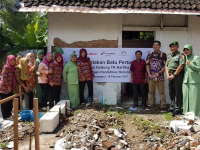 Peletakan Batu Pertama Pembangunan Gedung TK Kartika Oleh Dandim 0813 dan EMCL