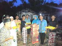 Prihatin, Kuswiyanto Sambangi Korban Kebakaran di Ngunut Dander