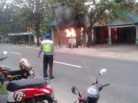 Pom Bensin Mini di Parengan Terbakar, Pemilik Rugi Rp 30 Juta