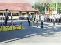 Jaga Sinergitas TNI dan Polri dengan Upacara Bendera Bersama