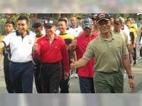 Jaga Sinergitas, Polres Mengajak Olahraga Bersama TNI dan Forpimda