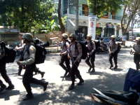 Latihan Fisik Anggota Polres Bojonegoro