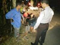 Bersenggolan, Dua Pengendara Motor di Dander Luka - luka