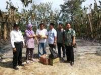 Kuswiyanto Beri Semangat dan Santuni Korban Kebakaran Baureno