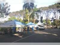 Pendirian Tenda Yamaha di Jalan Mas Tumapel Dibubarkan Kepala Dishub Bojonegoro
