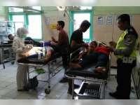Ceroboh Saat Mendahului, 3 Motor Terlibat Kecelakaan Beruntun di Kapas, 5 Orang Luka-Luka