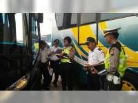 Petugas Gabungan di Blora Sidak Kesiapan Angkutan Mudik Lebaran di Terminal Cepu