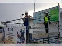 Anggota Pengamanan Proyek JTB, Laksanakan Apel Siaga Pengaman Libur Lebaran