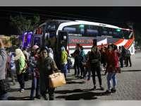 Ratusan Peserta Mudik Gratis Asal Jabodetabek Tiba di Blora