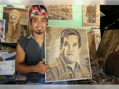 Sri Mulyanto, Sulap Pelepah Pisang Jadi Karya Seni