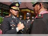 Kapolres Bojonegoro Wisuda 23 Anggota Yang Memasuki Masa Purna Tugas