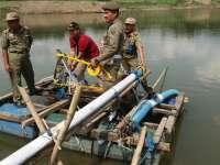 Petugas Gabungan Segel dan Sita Alat Penambangan Pasir Ilegal di Cepu