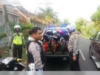 Satlantas Polres Bojonegoro Sita 9 Sepeda Motor Yang Digunakan Balapan Liar
