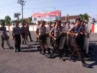 Antisipasi Kerusuhan Jelang Pilkades, Sat Shabara Polres Blora Latihan Pengendalian Massa