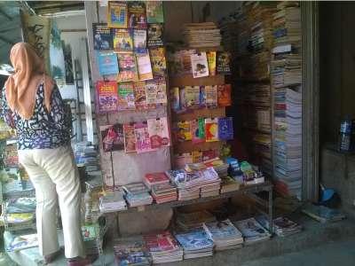 Belanja Buku Bekas di Pojok Pasar Kota Bojonegoro