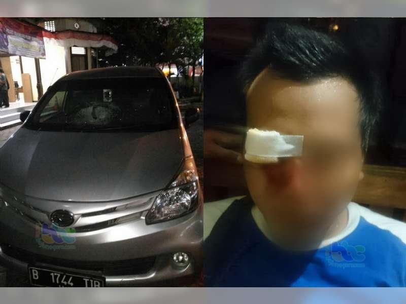 Oknum Suporter Persibo Lakukan Pengrusakan di Sumberrejo, Seorang Pengemudi Terluka