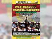 17 Agustus, Kodim 0813 Bojonegoro Gelar Doa Bersama