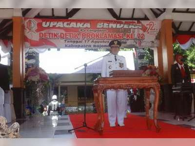 Sambutan Bupati Bojonegoro Pada Hari Ulang Tahun Republik Indonesia ke-72