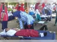 Upacara Peringatan HUT RI ke-72 di Alun-Alun Bojonegoro, 165 Peserta Kelelahan dan Pingsan