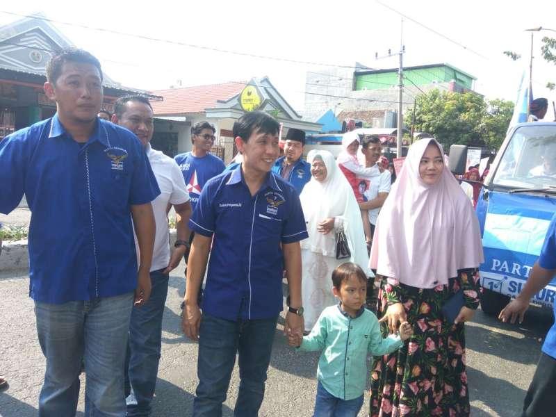 800 Pendukung Sukur Priyanto Membludak Saat Daftar di Partai Demokrat