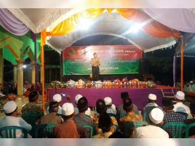 Hadiri Pengajian di Sukosewu, Kapolres Ajak Jamaah Untuk Tidak Ikut Aksi di Jakarta