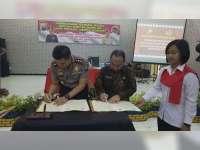 Polres Bojonegoro dan Kantor BPN Tandatangani MoU Satgas Anti Mafia Tanah