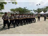 Polres Bojonegoro Rutin Latihan Dalmas Jelang Pilkada Serentak 2018