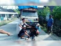 Tabrak Truk, Pengendara Motor di Sugihwaras Patah Kaki