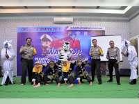 Hari Terakhir Ops Zebra Semeru 2017, Sat Lantas Polres Bojonegoro Bentuk NINJA Warrior