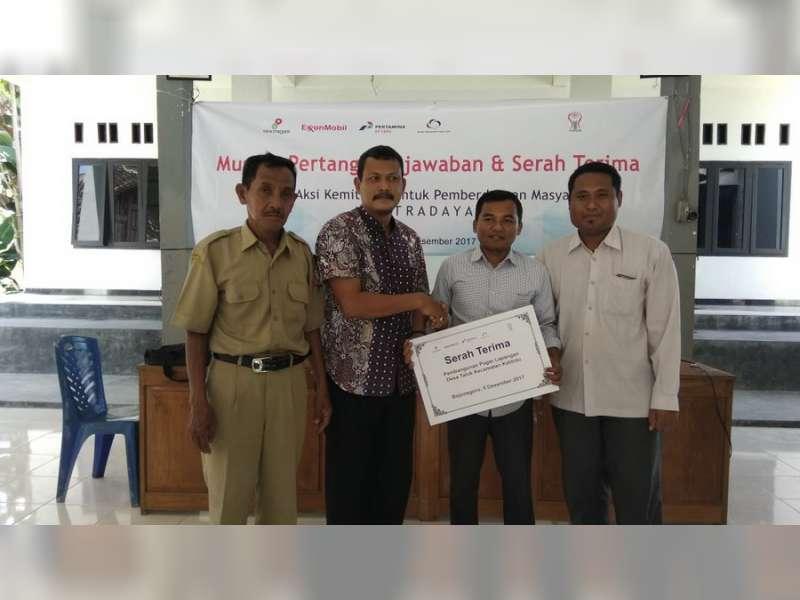 Musdes dan Serah Terima Pembangunan Pagar Lapangan Desa Talok Kuatkan Gotong Royong Warga
