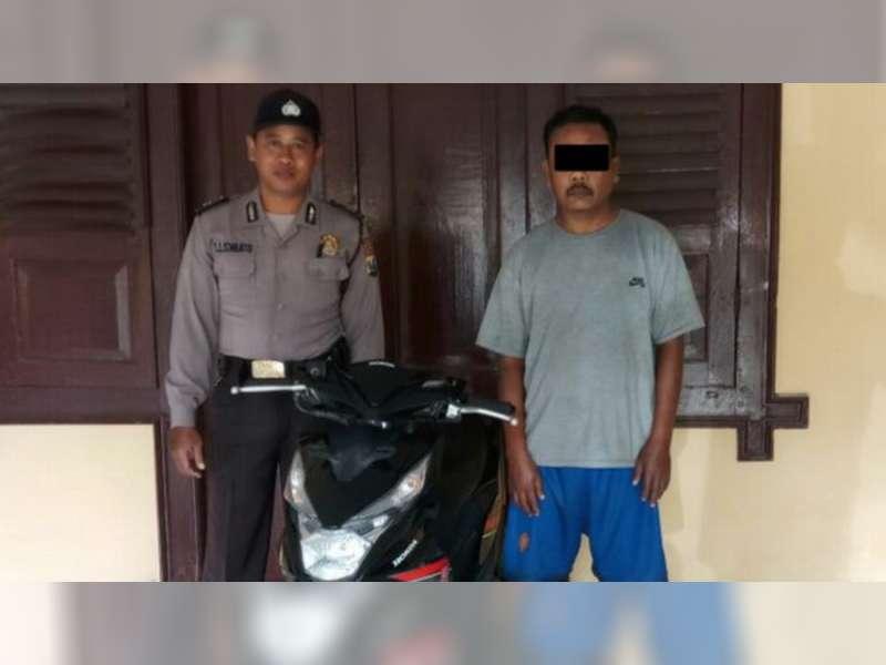 Seorang Anggota Sindikat Curanmor Diamankan Polsek Padangan