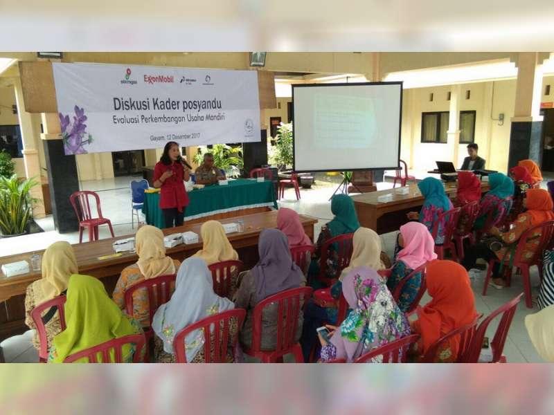 Kader Posyandu Kecamatan Gayam Ikuti Diskusi dan Pelatihan Kewirausahaan Mandiri