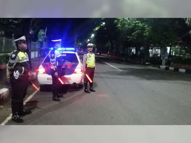 Antisipasi Kejahatan dan Balap Liar, Satlantas Polres Bojonegoro Optimalkan Patroli Malam