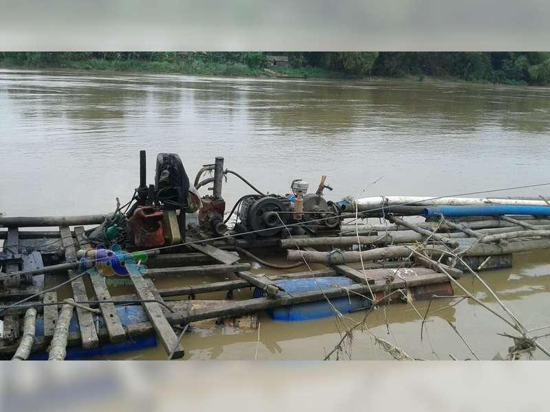 Polres Bojonegoro Kembali Tindak Tambang Pasir Ilegal di Bengawan Solo