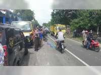 4 Kendaraan Terlibat Kecelakaan Karambol di Baureno, 4 Orang Luka-Luka