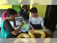 Minum Kopi Sambil Memeluk Ular Sanca di Animals Cafe