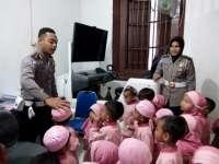 Puluhan Anak TK Serbu Kantor Sat Lantas Polres Blora