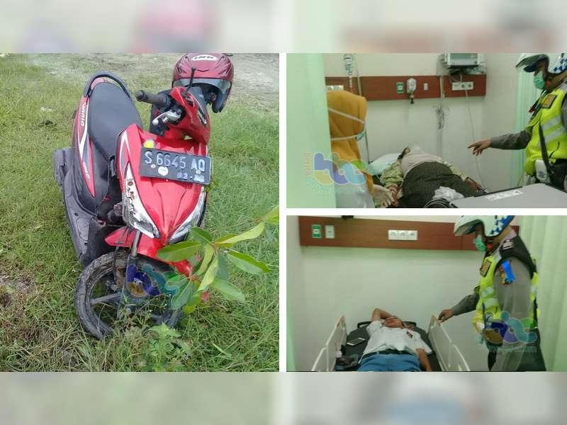 Seorang Nenek Pejalan Kaki di Ngraho Luka Berat Ditabrak Motor
