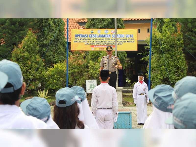 Kapolres Bojonegoro Sosialisasi Keselamatan Berlalu-Lintas di Sekolah