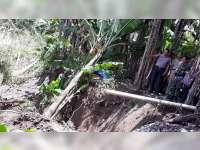 Jalan Lingkungan dan Rumah Warga di Padangan Teracam Longsor